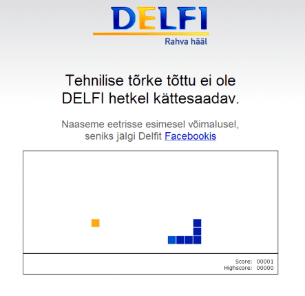 Delfi not available snake game