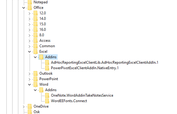 word-excel-addins-in-registry