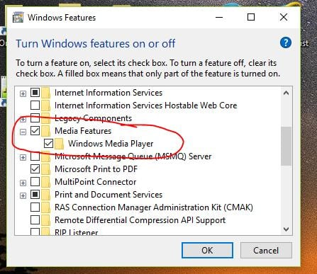 media pack feature windows 10